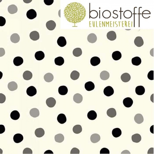 BIRCH Double Gauze Bio Pop Dots Grey Scale