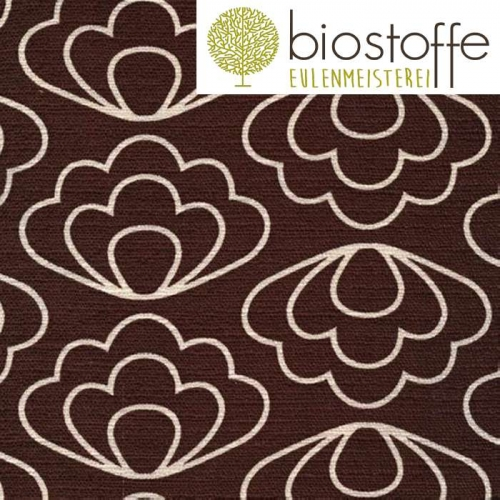 CLOUD9 Bio Barkcloth Ripple Brown Time Warp