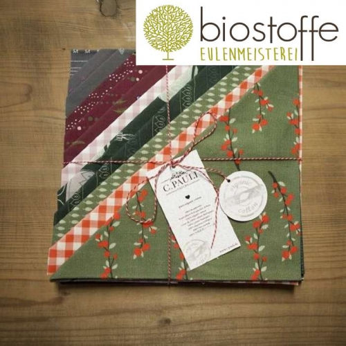 C.PAULI Fat Quarter Set 1 Bio Weihnachten 1