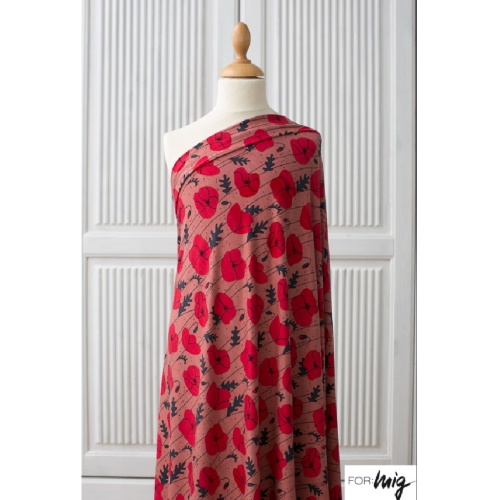 LILLESTOFF Modal Poppies Coral