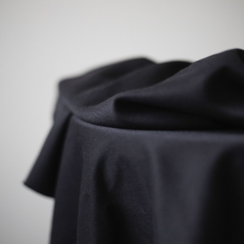 MEET MILK Tencel Sanded Twill Black