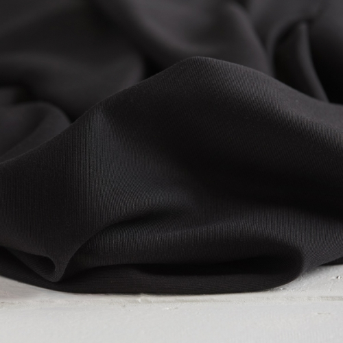 RESTSTÜCK 42CM-MEET MILK Tencel Sanded Twill Black