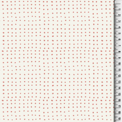 MUSTER HEMMERS Bio-Basic Jersey Brush Dot Coral