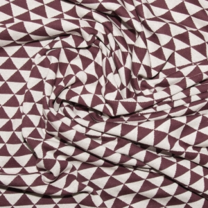 ALBSTOFFE Bio-Jacquard Jersey One Direction, bordeaux