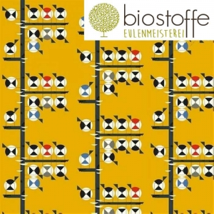 BIRCH Fat Quarter Bio Family of Chickadees