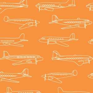 BIRCH Bio-Interlock Jersey Planes Orange Trans Pacific