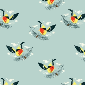 BIRCH Bio-Interlock Jersey Western Tanager Western Birds