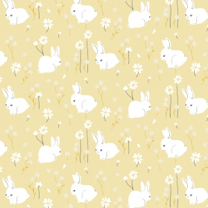 BIRCH Bio-Interlock Jersey White Bunny Little