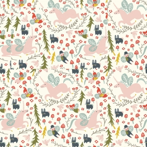 BIRCH Bio-Interlock Jersey Enchanted Unicorns Cream Folkland