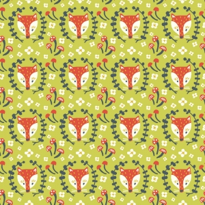 BIRCH Bio-Interlock Jersey Foxy Grass Folkland