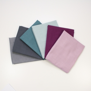 BIRCH Bio-Fat Quarter Bundle Unis Double Gauze