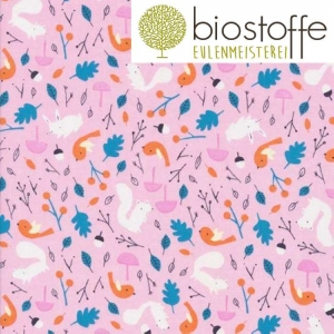 CLOUD9 Bio Baumwolle Forest Friends Pink