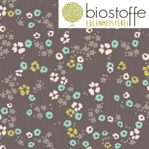 CLOUD9 Interlock Jersey Scattered Floral Brown