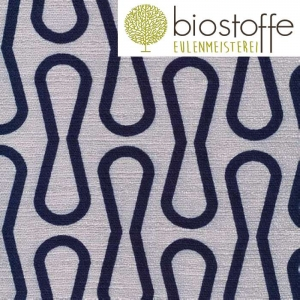 CLOUD9 Bio Barkcloth Loop Navy Time Warp
