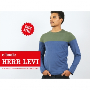 Ebook Colourblocking Langarmshirt Herr Levi S-XXL | Studio Schnittreif