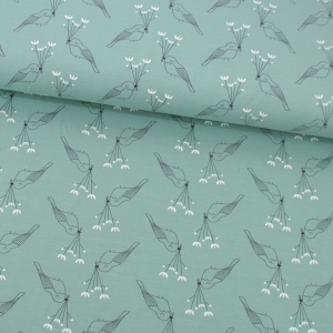 HEMMERS Bio-Jersey Birdie & Bloom Mint
