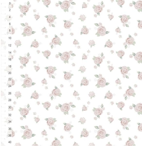MUSTER ALLGOTS Bio Jersey Roses - White