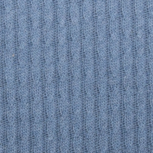 MUSTER ALBSTOFFE Bio-Grobstrick Knitty Plait Jeans Melange Pattern Love