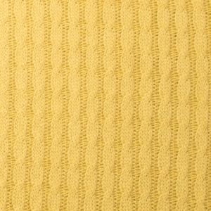 MUSTER ALBSTOFFE Bio-Grobstrick Knitty Plait Senf Pattern Love